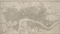 A new & accurate plan of the cities of London, Westminster, & borough of Southwark with the out parts & new buildings, completed to the year 1792